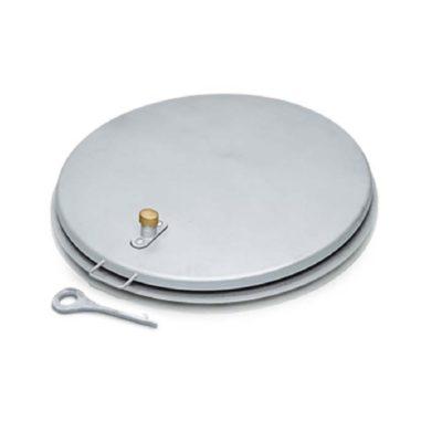 Круглый колодезный люк из стали, оцинкованной горячим способом - 47156