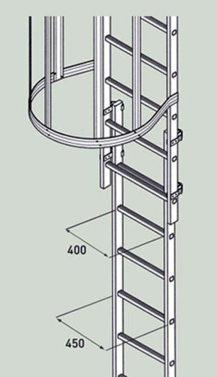 Лестница аварийного спуска Zarges 42448