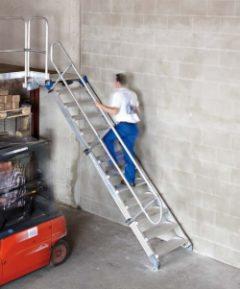 Лестницы-площадки с перилами