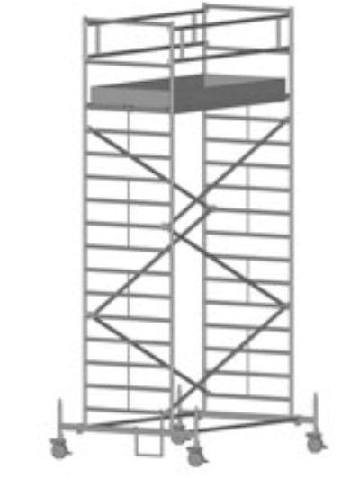 Передвижная вышка с широкой площадкой Zarges Z600 51544