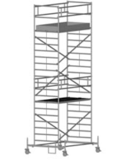 Передвижная вышка с широкой площадкой Zarges Z600 51554