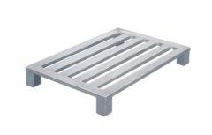 Плоский алюминиевый поддон Zarges на обычных ножках 45162
