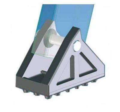 Поворотные подпятники с резиновой подошвой ZARGES 40997