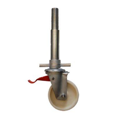 Поворотные ролики 150 мм с винтовым домкратом - 44444