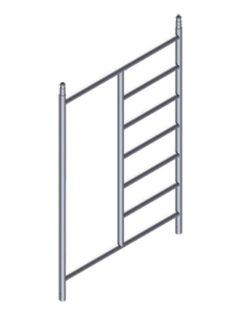 Рама 1.35 м с проемом для вышек с наклонными лестницами Zarges Z600 42928