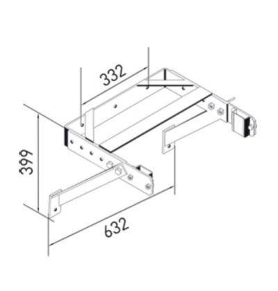 Скоба для крепления к стене Zarges регулируемая в пределах 400-600 мм 43260
