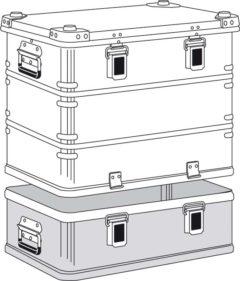 Ящик Zarges K 470 Plus бак с крышкой верхняя секция 40502