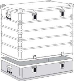 Ящик Zarges K 470 Plus бак с крышкой верхняя секция 40506