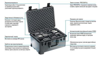Жесткий кейс Zarges Peli Case 46651 с пеноматериалом